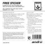 Adheasive film for sticking rubbers ANDRO Free Sticker