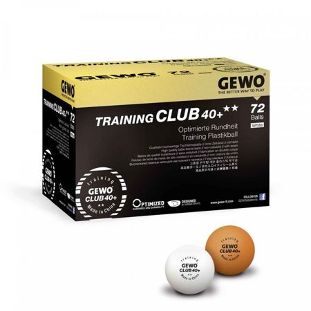 plastic balls GEWO Training Club 40+ ** 72 pcs.